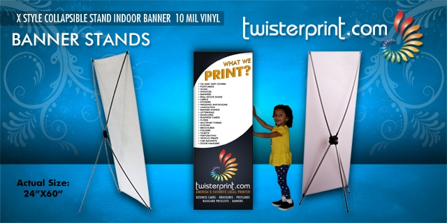 X Style Banner Stands